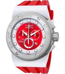 reloj invicta modelo 12317_out blanco rojo hombre
