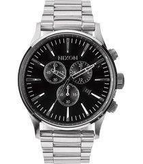 nixon 'the sentry' chronograph bracelet watch, 42mm in gunmetal at nordstrom