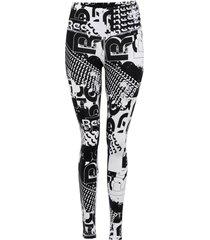calza reebok wor myt cotton aop legging negro - calce ajustado