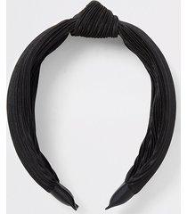 river island womens black knot plisse headband