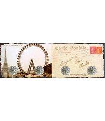 cabideiro de parede kasa ideia de vidro cartão postal