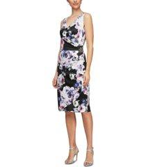 alex evenings embellished cascade dress
