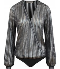 body silver blouse