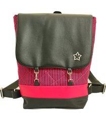 mochila duccini american rosa/preta