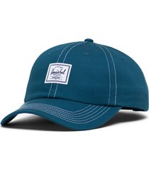 herschel supply co. sylas classic patch baseball cap in moroccan blue/white at nordstrom