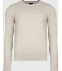 sweater d/struct jumper beige - calce regular