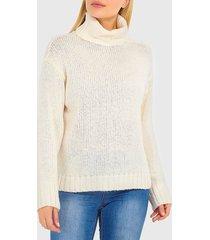 sweater brave soul blanco - calce oversize