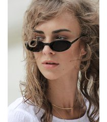 travel oval small resin sunglasses