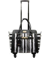 bolso de viaje stripes negro executive