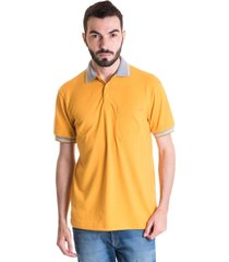 camisa polo konciny manga curta 3480411 amarelo