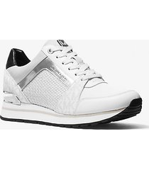 mk sneaker billie in materiale misto - combo bianco (bianco) - michael kors