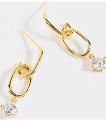 melanie oblong link earrings - gold