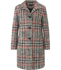 geruite jas met staande kraag en knoopsluiting van emilia lay rood