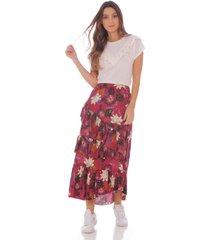 falda en estampado floral 100613-00