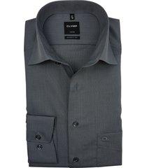 olymp luxor overhemd extra lange mouw grijs