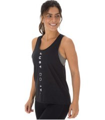camiseta regata nike miler tank surf - feminina - preto