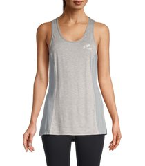 roberto cavalli sport women's open-back tank top - heather grey - size m
