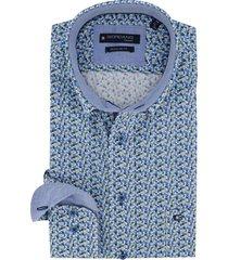 overhemd giordano blauw dessin