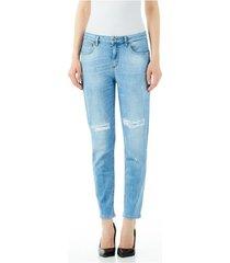 boyfriend jeans liu jo blue denim bottom up cute h.w.