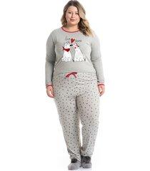 pijama longo estampado bear