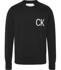 statement logo sweater negro calvin klein