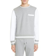 men's thom browne colorblock cotton sweatshirt, size - (nordstrom exclusive)