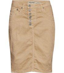 sl cotton knälång kjol beige please jeans