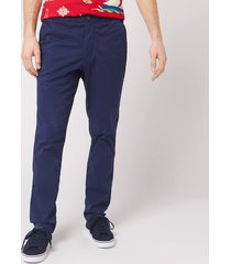 polo ralph lauren men's classic fit tapered prepster trousers - newport navy - xl