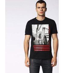 camiseta diesel t-joe-su   masculino preto