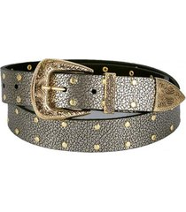 cinturon vaquero grafito oro cupida
