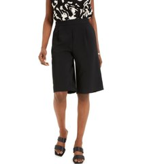 alfani pleated pull-on shorts, created for macy's