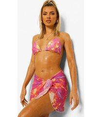 chiffon galaxy sarong, pink