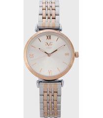 reloj plateado-oro rosa versace 19.69