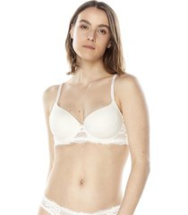 sosten push up básico lace ecru corona