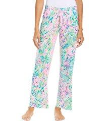 women's lilly pulitzer pajama pants, size x-large - blue