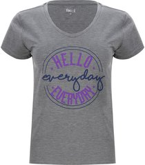 camiseta descanso everyday color gris, talla s
