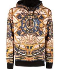 balmain printed hoodie