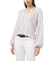 plus size long sleeve viscose stripe blouse