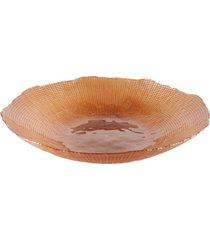 centro de mesa dunya dunya de vidro 40cm - infinity caramelo