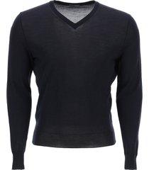 drumohr super fine merino wool v-neck sweater