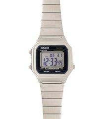 reloj casio b_650wd1a plateado acero inoxidable