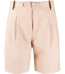 redvalentino high-waisted belted shorts - pink