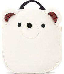 familiar teddy bear backpack - white