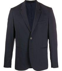 norse projects filip fine knit suit jacket - blue