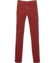meyer pantalon bonn - modern fit - rood