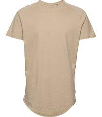 jjecurved tee ss o-neck noos t-shirts short-sleeved beige jack & j s