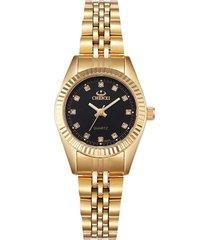 reloj mujer clasico elegante lujo chenxi 004-a dorado negro