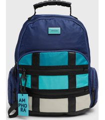 mochila azul amphora