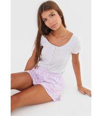 short-doll cor com amor floral cinza
