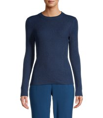525 america women's ribbed sweater - midnight - size l